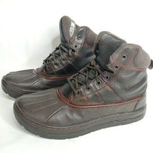 Nike 7.5 Duck Boots Woodside Leather Rubber Brown